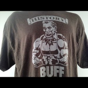 Shirts - Abe Lincoln History Buff Men's XXL Graphic Tee